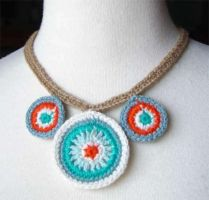 crochet southwestern necklace by meekssandygirl