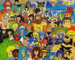 The Most Random Yet EPIC Crossover Ever!!! by marioandsonic-14
