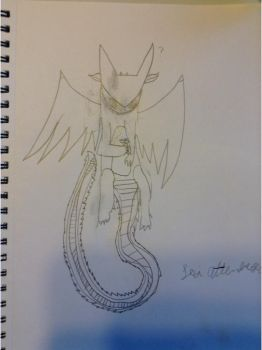 Random drawing of Toothless. by xXRadiantNightmareXx