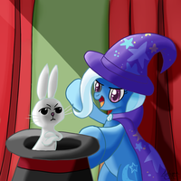 Great and powerful trixie (And Angel) by Ailynd