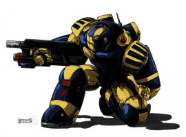 police power armor by kevarin