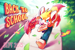 September 2015 Postcard: Back to School! by Orangetavi