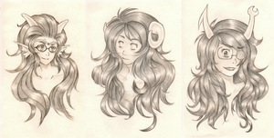 HS-Girl Trolls Headshots by Toadiko25