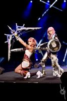Serah and Lightning by cyberlight