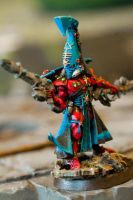 Eldar Autarch with Fusion Gun and Chainsword 2of2 by eastphoto99