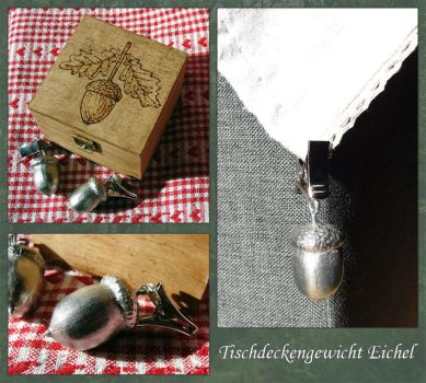 Pewter Acorn Weights by Psydrache