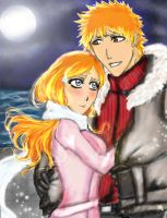 Ichigo and Orihime by kiara7055