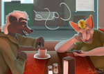 Typical Diner Scene by bludermaus