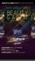 BEAUTY n A BEAT Party Flyer Template by anekdamian