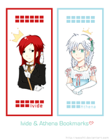 Ivide and Athena Bookmark by Sacchii