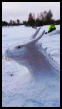 Snow Dragon by Tiwyll