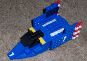 LEGO Blue Falcon by MarcusWilliams