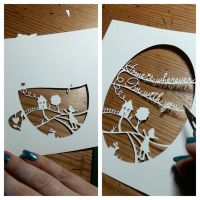 Home Is Wherever I'm With You - original papercut by PaperPandaCuts