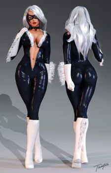 Black Cat Front-back by tiangtam