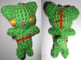 Zombie Cat Keychain by 13anana