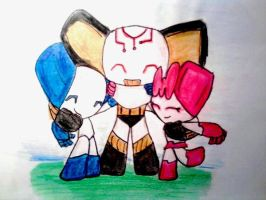 Happy Three Bots B-Day Gift for NIKY123 by Laura93RO