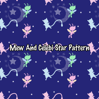 Mew and Celebi pattern by The-Clockwork-Crow