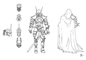 Death Knight Concept Lineart 3 by Tommi-75