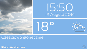 Win8 Based Real Screen Weather by Slavoo123