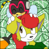 AT: Eevee and Charmy by Chico-2013