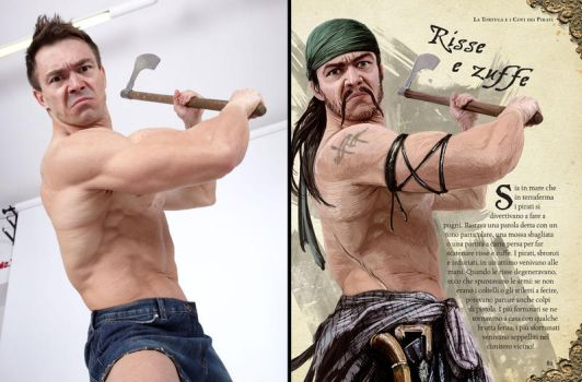 Using Photo References - Pirate #1 by comicReference