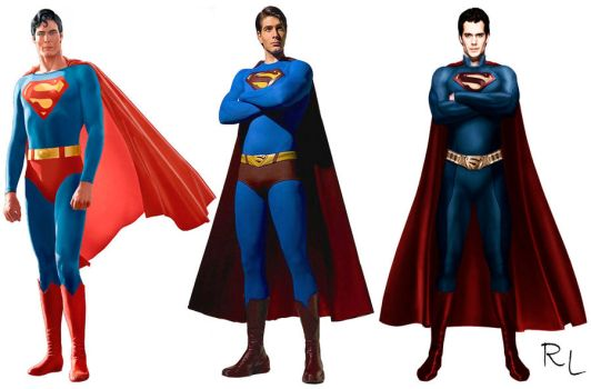 Reeve, Routh e Cavill by Rapha-Leite