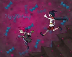 Happy Birthday! :D by RobotsWithCookies
