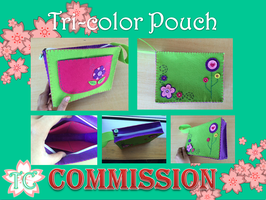 Tri-Color Pouch by TealCreations