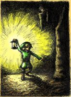 Link III exploring a Cave by neojedi17