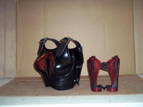 Breastplate and arm guards by AudreyLucero