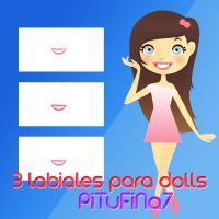 3 labiales para dolls by PiTuFiNa7