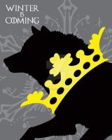 Game of Thrones House Stark Winter is Coming Crown by Dragonrose247