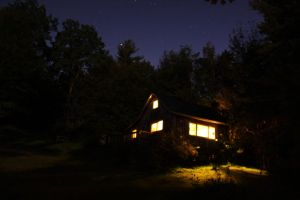 Light From the Cabin by Scroll-n-Frog