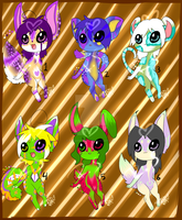 Cute adoptables! OPEN! REDUCED PRICE! by reaper334