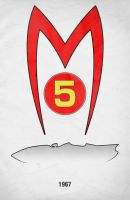 Movie Car Racing Posters - Mach 5 by Boomerjinks