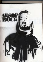 Stencil Hip-Hop Series: Aesop by DUXZ