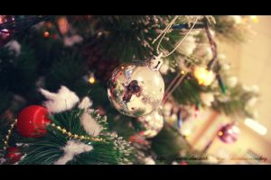 Christmas Ball Reflection by AwesomeAmbry