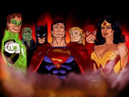 Justice League of America - Original 7 by guinnessyde