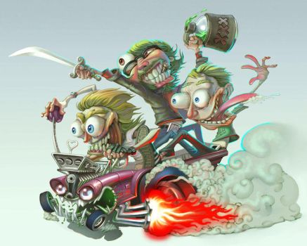 SS RatFink'ed in COLOR by DaveIgo