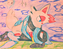 Young And Beautiful (Riolu x Zorua) by KnightMoonlight98