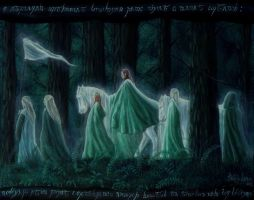 the passing of the Elves : leaving Mirkwood by Gwillieth