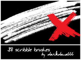 Scribble brushes by darkdana666