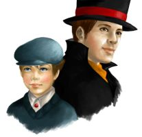 Layton and Luke WIP by imaginaaation