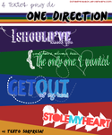 Pack Textos png #1 ~ 1D by DonaGreyback
