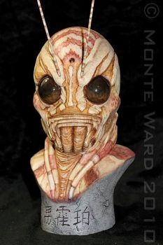 Manhopper 1:2 resin bust 4 by dreggs88