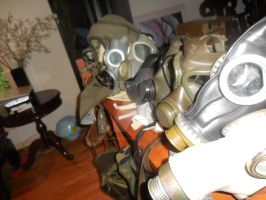 Gasmask collection as of October by SauronTheMagnificant