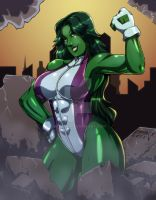 She-Hulk colors by DualMask by Bfetish