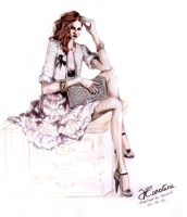 Chanel inspired Fashion Illustration by karolina1994