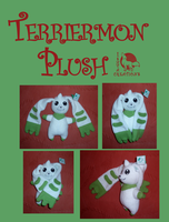 NEW terriermon plush commission by Ishtar-Creations