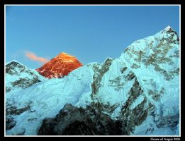 Sunset on Everest by angus-grant